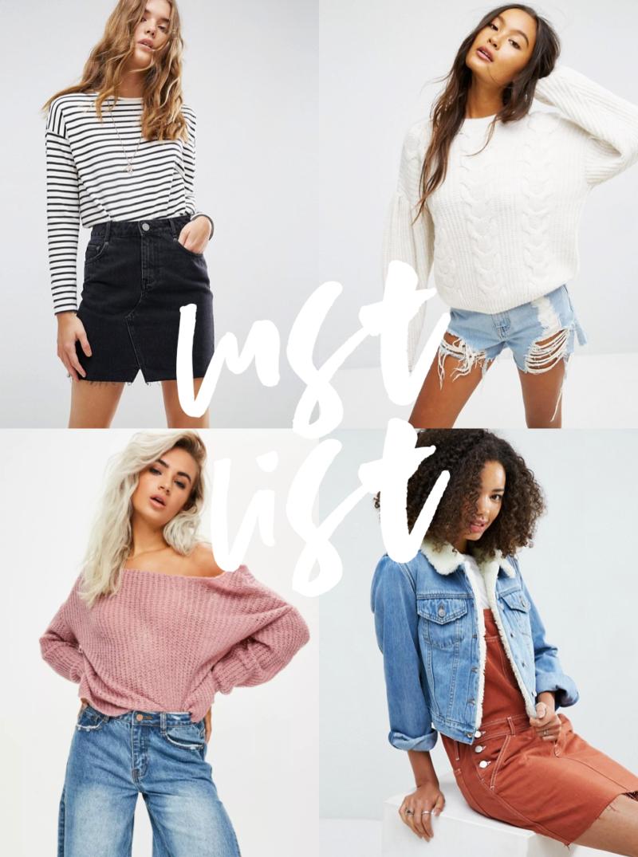 august lust list asos wish list fashion wish list autumn inspiration