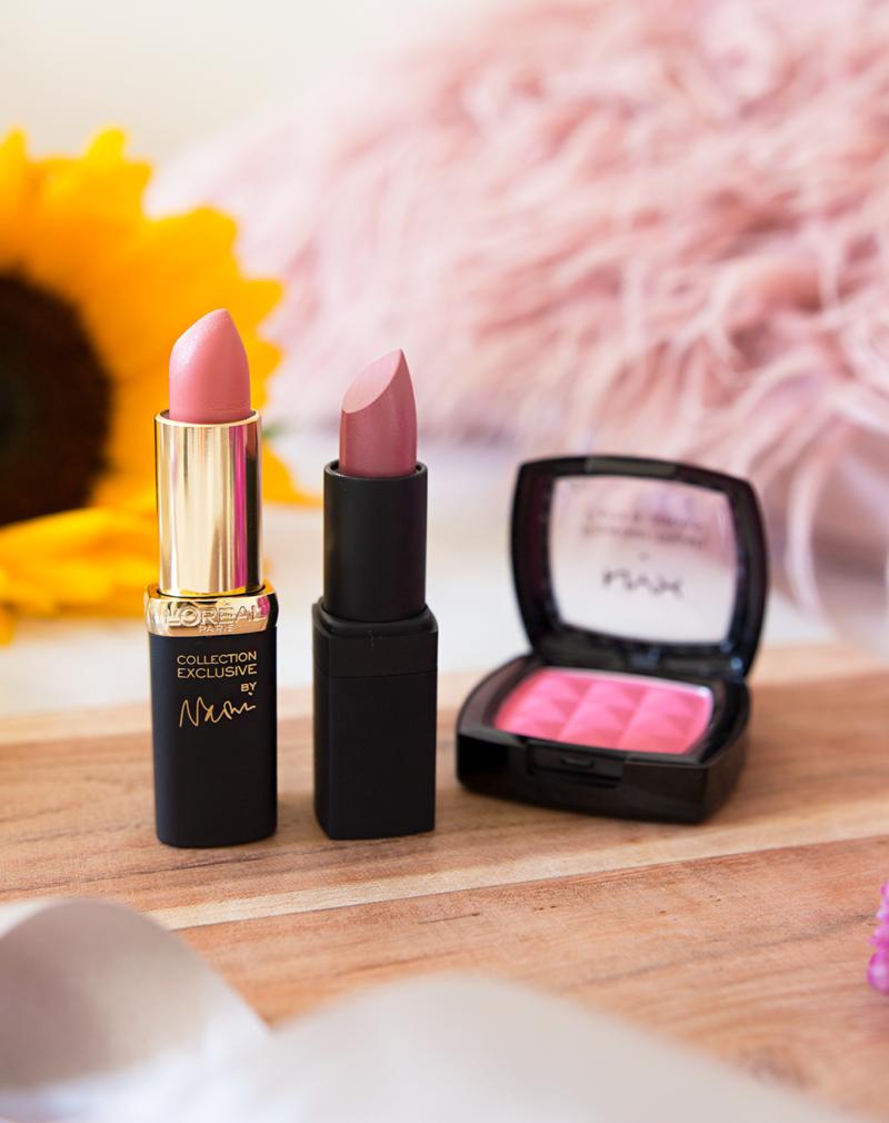 loreal lipstick nars lipstick nyx blush in peach