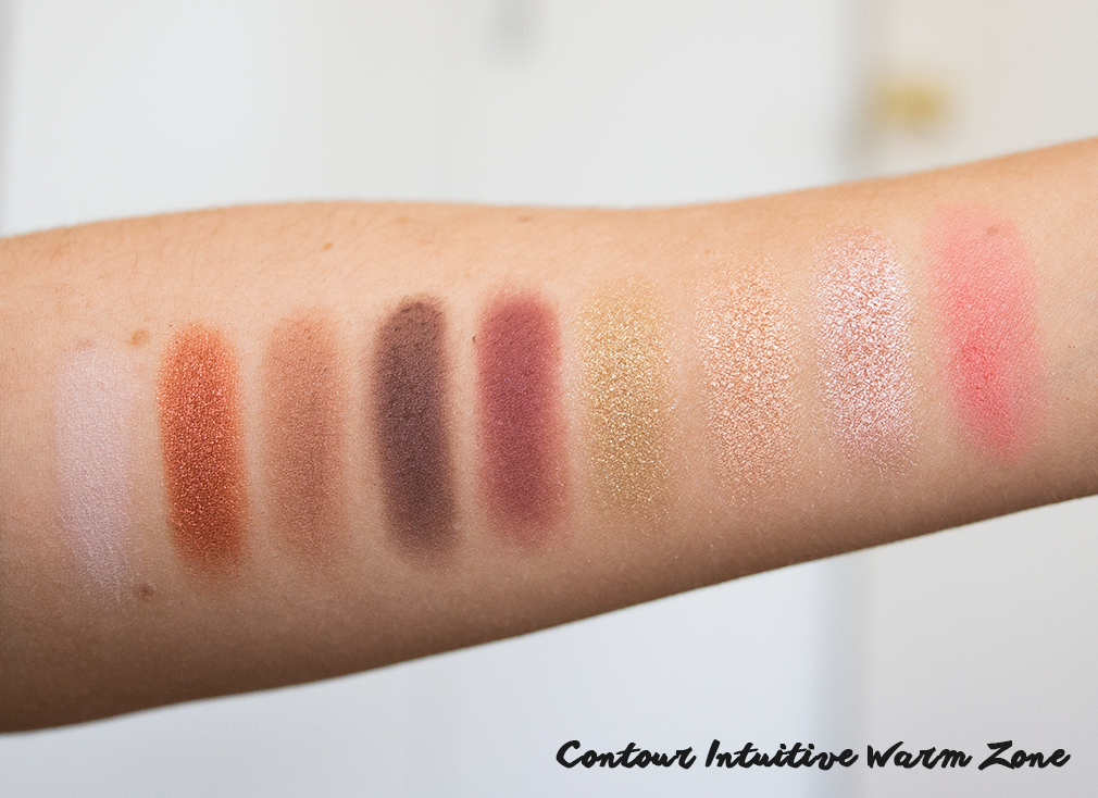 nyx contour intuitive warm zone swatches