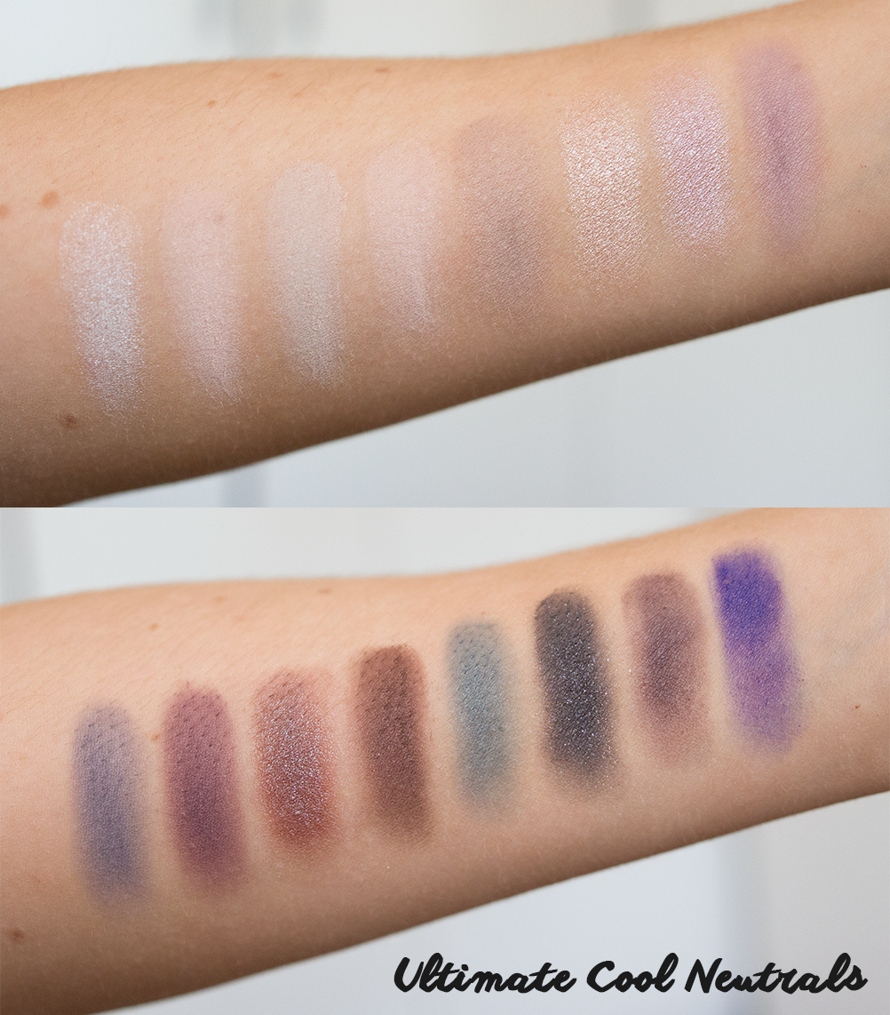 nyx ultimate cool neutrals palette swatches