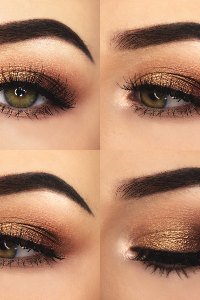 Warm Summer Eye Makeup.