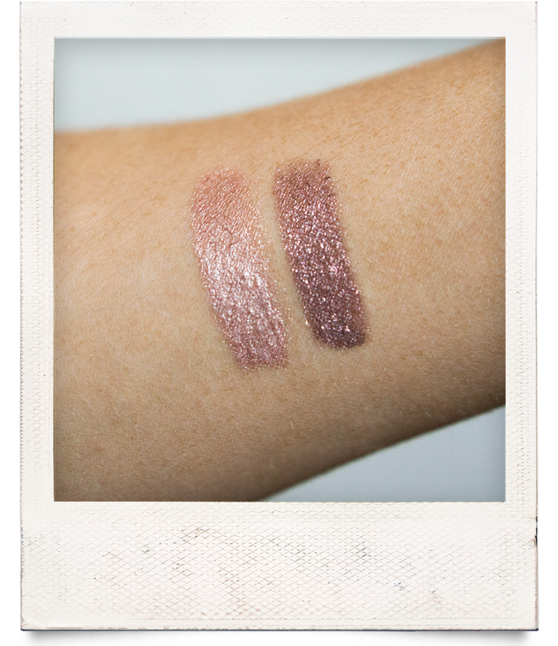bobbi brown long-wear cream shadow stick golden pink long-wear sparkle stick rose quartz review swatches