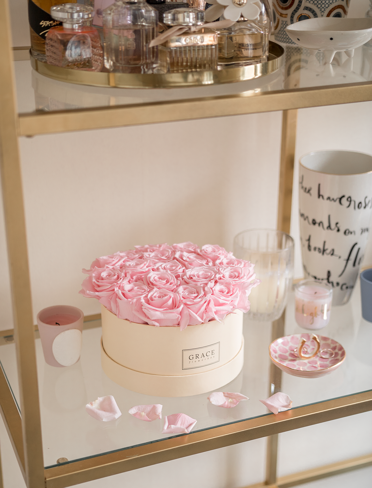 grace flower box review floral home details pretty home touches shelving